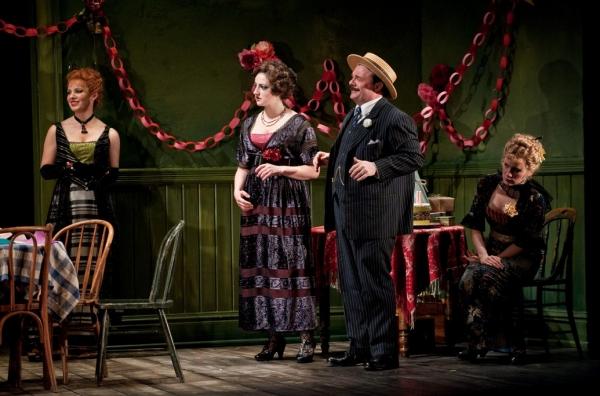 "Cora (Kate Arrington), Pearl (Tara Sissom), Theodore â€Å""Hickey Hickman (Nathan Lane) and Margie (Lee Stark)"