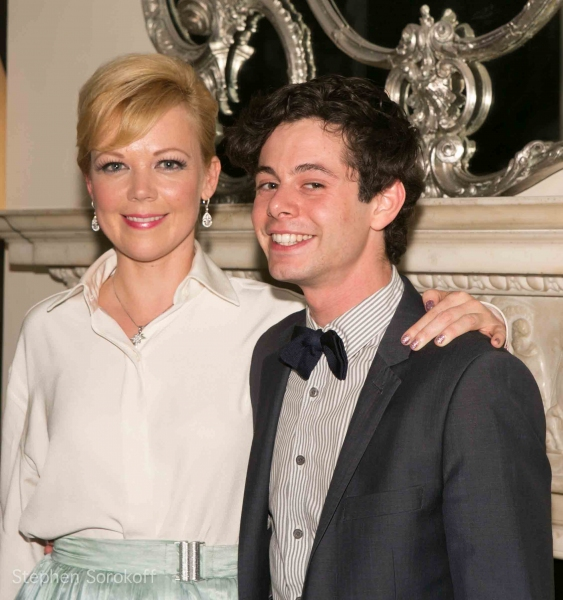 Emily Bergl & Paul Iacono at Tommy Tune, Helen Hunt and More Visit Emily Bergl's NY I LOVE YOU at Cafe Carlyle!