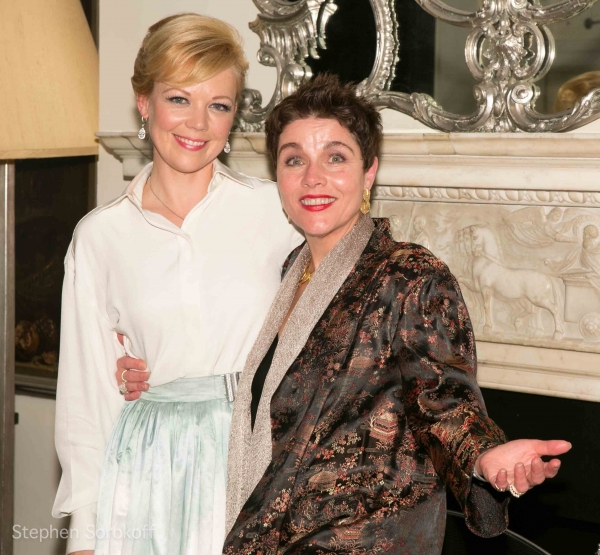 Emily Bergl & Christine Andreas at Tommy Tune, Helen Hunt and More Visit Emily Bergl's NY I LOVE YOU at Cafe Carlyle!