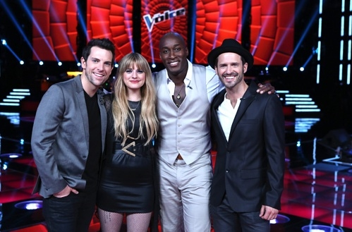 Chris Mann, Tony Lucca, Jermaine Paul, Juliet Simms at First Look - THE VOICE Final Four Contestants!