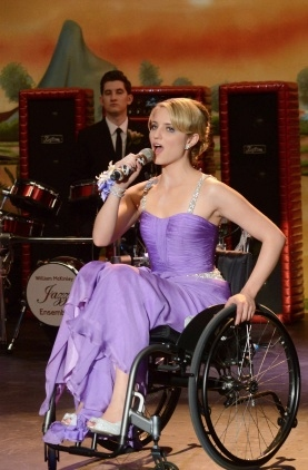 Dianna Agron at First Look - GLEE's 'Prom-asaurus' Episode