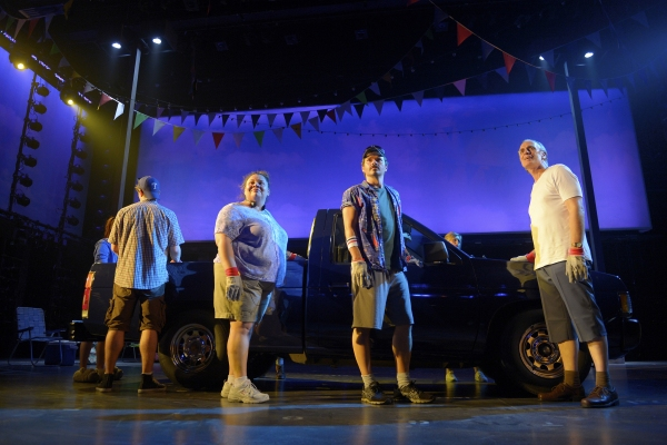 Jay Armstrong Johnson, Keala Settle, Hunter Foster and Keith Carradine at First Look at Allison Case, Hunter Foster, et al. in La Jolla Playhouse's HANDS ON A HARDBODY
