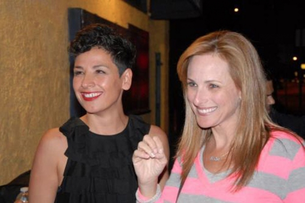 Ipek D. Mehlum with Marlee Matlin at Marlee Matlin Visits Deaf West and The Fountain's CYRANO Opening Night