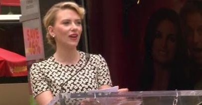 Scarlett Johansson at Scarlett Johansson Receives Star on Hollywood Walk of Fame