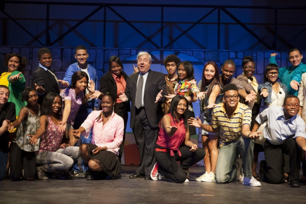 Photo Flash:  Marty Markowitz, Kathy Deitch and FOOTLOOSE in Ribbon Cutting for Brooklyn Theatre Arts High