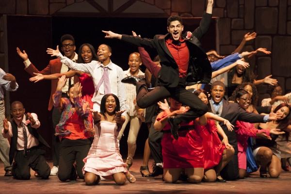 Brooklyn Theatre Arts High School students and Rafael Sochakov Photo