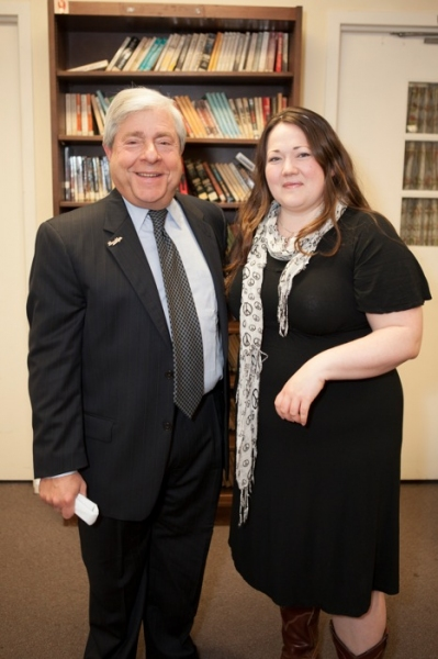 Photo Flash: Brooklyn BP Marty Markowitz and Kathy Deitch Cut Ribbon at New South Shore Auditorium's FOOTLOOSE