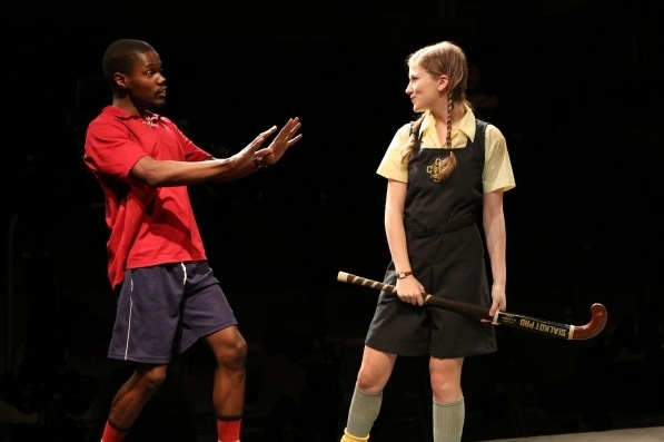 Allie Gallerani and Stephen Tyrone Williams at Signature Theatre's MY CHILDREN! MY AFRICA!