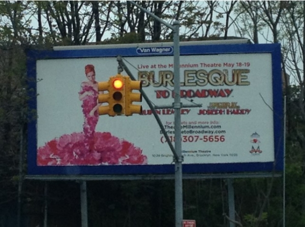 Photo Flash: BURLESQUE TO BROADWAY Billboard