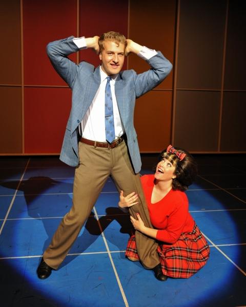 Tripp Hampton as Link Larkin and Erin Mcracken as Tracy Turnblad Photo