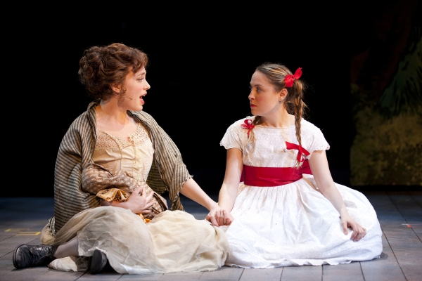 Jenny Latimer (Cinderella) and Dana Steingold (Little Red Ridinghood)