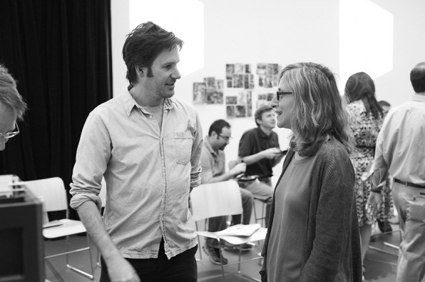 Josh Hamilton and Erika Mallin at Signature Theatre's MEDIEVAL PLAY Conducts First Rehearsal