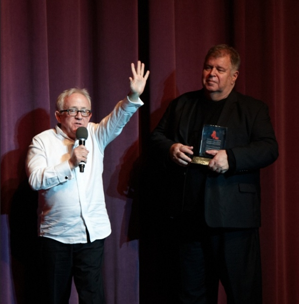 Leslie Jordan and David Galligan