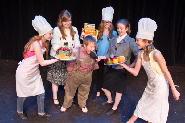 Maddy Jane Silver Riskin (Cook), Ashley Kiessling (Mrs. Gloop), Cole Emerine (Augustus Gloop), Marlee McGorray (Cook), Rachel Daso (Phineas Trout), Katherine Finley (Cook)