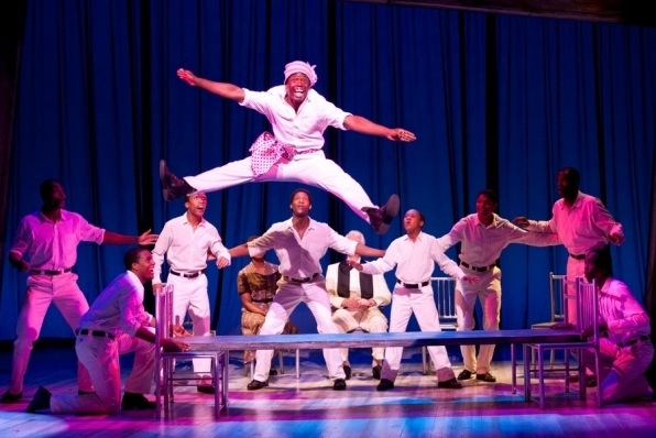 James T. Lane (above) as Ozie Powell and the Cast of The Scottsboro Boys