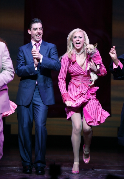 Laura Bell Bundy & Christian Borle during the Opening Night  Curtain Call for LEGALLY BLONDE - The Musical at the Palace Theatre in New York City. April 29, 2007 at Photo Blast From The Past: The 2012 Tony Nominees - The Men