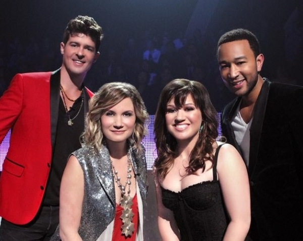 Robin Thicke, Jennifer Nettles, Kelly Clarkson & John Legend at First Look - ABC's New Music Competition DUETS, Premiering 5/24