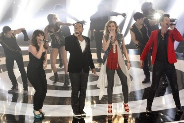 Kelly Clarkson, John Legend, Jennifer Nettles & Robin Thicke at First Look - ABC's New Music Competition DUETS, Premiering 5/24