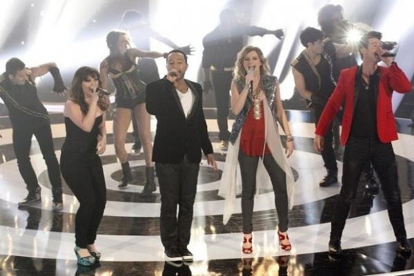 Kelly Clarkson, John Legend, Jennifer Nettles & Robin Thicke