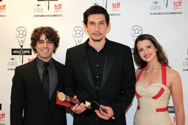 Josh Young, Adam Driver, Rose Hemingway at Inside the Lucille Lortel Awards with the 2012 Winners!