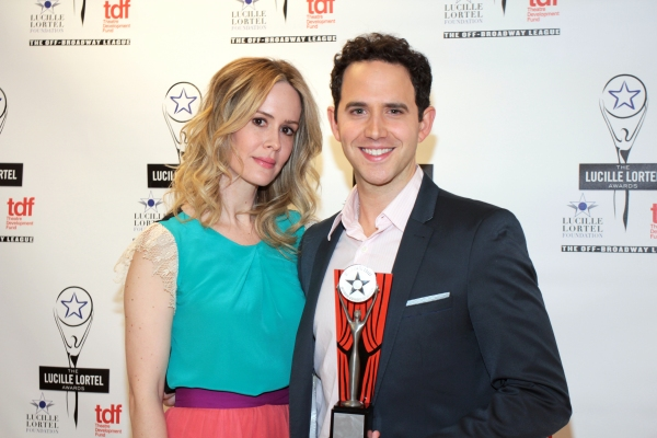Sarah Paulson, Santino Fontana at Inside the Lucille Lortel Awards with the 2012 Winners!