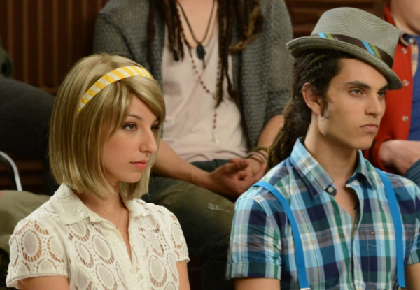 Vanessa Lengies, Samuel Larsen at First Look at GLEE's Props & Nationals Episodes!