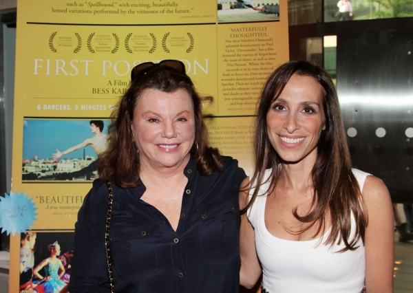 Rose Caiola with actor Marsha Mason