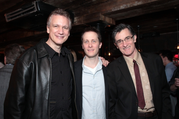 Rick Elice, Jeff Croiter, Roger Rees at SUBMISSIONS ONLY's Season Two Wrap Party!