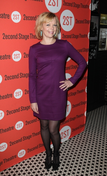 Emily Bergl at Opening Night of LONELY, I'M NOT Starring Topher Grace & Olivia Thirlby at Second Stage