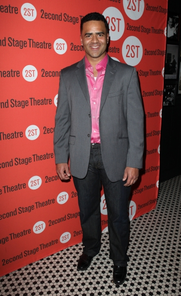 Christopher Jackson at Opening Night of LONELY, I'M NOT Starring Topher Grace & Olivia Thirlby at Second Stage