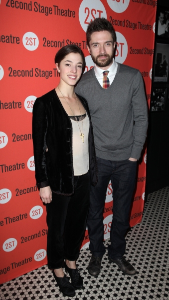 Olivia Thirlby & Topher Grace  at Opening Night of LONELY, I'M NOT Starring Topher Grace & Olivia Thirlby at Second Stage