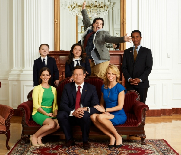 Martha MacIsaac, Amara Miller, Josh Gad, Bill Pullman, Jenna Elfman at First Look - Josh Gad & Cast of NBC's 1600 PENN