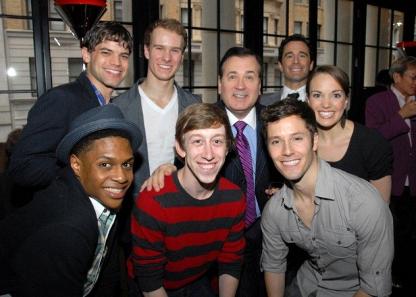 Ephraim Sykes, Ryan Breslin, Thayne Jasperson, Jeremy Jordan, Ryan Steele, Lee Roy Reams, Chris Gatelli and Kara Lindsay