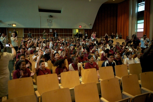Photo Flash: SPIDER-MAN Hosts Bronx Middle School 343 Master Class