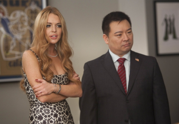 Lindsay Lohan, Rex Lee at Lindsay Lohan Guest Stars on Next Week's GLEE!