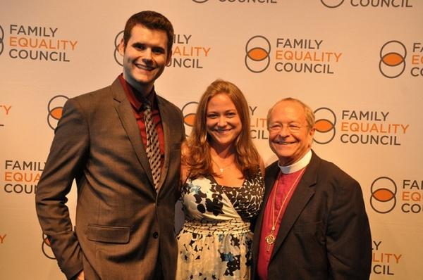 Zach Wals, Ella Robinson and Rev. Bishop Gene Robinson