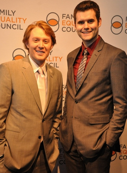 Clay Aiken and Zach Wahls at NEWSIES, Montego Glover, Clay Aiken and More at the 2012 Family Equality Council Night at the Pier!