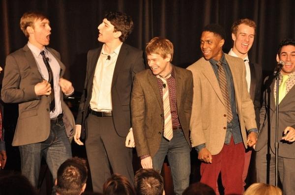 Brendon Stimson, Ben Fankhauser, Andrew Keenan-Bolger, Ephraim Sykes, Ryan Steele and Tommy Bracco