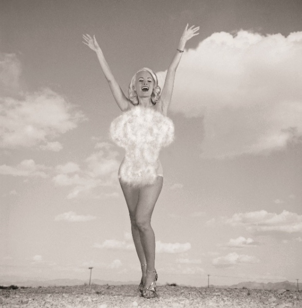 Photo Flash: PEEPSHOW's Holly Madison Recreates 1957 'Miss Atomic Bomb' Image