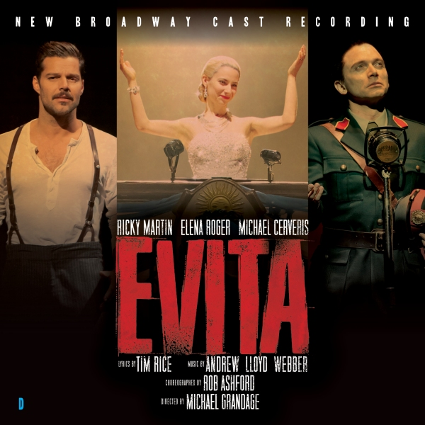 Photo Flash: Cover Revealed for New EVITA Broadway Cast Album!