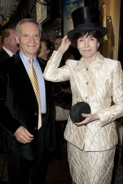 Jeffrey Archer and Mary Archer arrive on Press Night for Top Hat at the Aldwych Theatre, London, England on 9th May 2012. (Credit should read: Dan Wooller/wooller.com). Paid use only. No Syndication