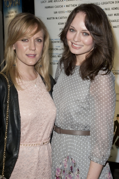 Jessica Curtain and Laura Haddock arrive on Press Night for Top Hat at the Aldwych Theatre, London, England on 9th May 2012. (Credit should read: Dan Wooller/wooller.com). Paid use only. No Syndication