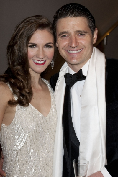 Summer Strallen (Dale Tremont) and Tom Chambers (Jerry Travers) attend the after party on Press Night for Top Hat at The Waldorf Hilton, London, England on 9th May 2012. (Credit should read: Dan Wooller/wooller.com). Paid use only. No Syndication