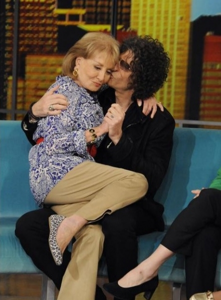 Barbara Walters & Howard Stern at Howard Stern Visits THE VIEW