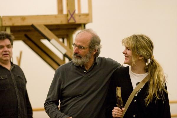 Oliver Platt, Daniel Sullivan, and Lily Rabe  at Oliver Platt, Lily Rabe, et al. in Rehearsal for AS YOU LIKE IT