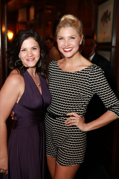 Sara Edwards and Amanda Kloots-Larsen at Inside Opening Night of FOLLIES in LA!