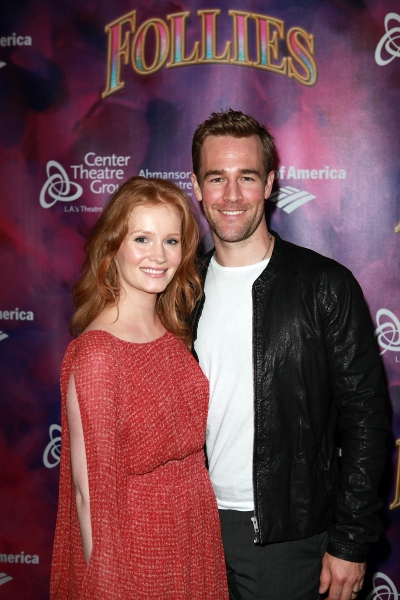 Kimberly Brook and actor James Van Der Beek  Photo