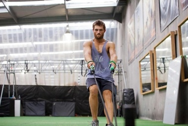 Liam McIntyre at Cast of Starz' SPARTACUS Gets in Shape