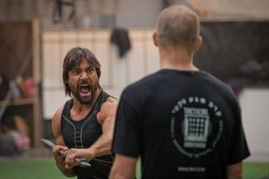 Manu Bennett and Allan Poppleton