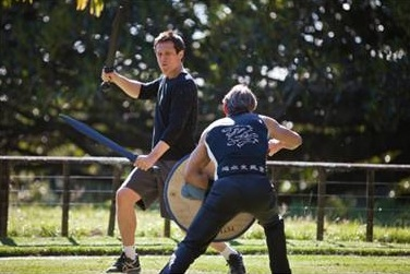 Simon Merrells and Cast at Cast of Starz' SPARTACUS Gets in Shape
